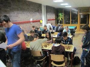 Turniergeschehen, links Alex Kartsev